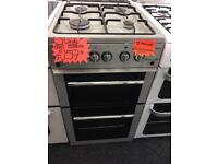 FLAVEL 50CM ALL GAS COOKER IN SILIVER