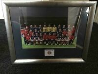 Framed picture of the Scotland team - 2010