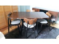 Retro dining table & 4 chairs G-Plan