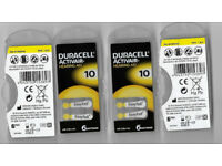 Five Packs of Duracell Hearing Aid Batteries. Size 10