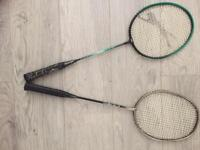 2 badminton rackets