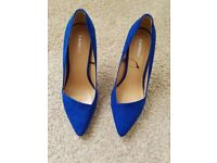 Womens blue high heel shoes