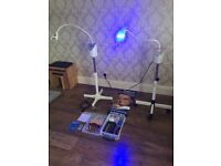Teeth Whitening L.E.D lamps x2 with couch and accessories