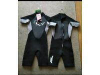 Two children's No Fear Wetsuits £5 each