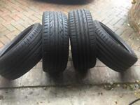 4x 205/40/17 tyres - Kumho and Hankook