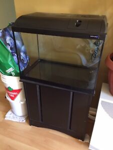 20 gallon with stand & accessories 100$