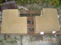SANDSTONE COLOURED APEX COPING CORNER STONES