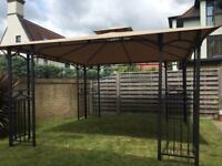 Black and beige gazebo