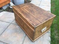 Victorian Pine Trunk or Blanket Box