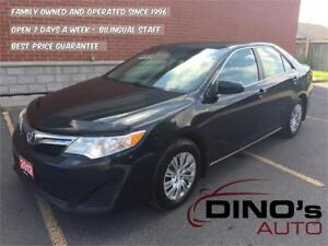2012 Toyota Camry LE   $63 Weekly $0 Down *OAC / One Owner