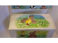 British Wildlfe handpainted toy box