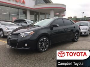 2014 Toyota Corolla S 1 OWNER--LOCAL TRADE--LOW KM'S