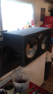 Dual 12inch subwoofer box