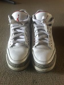 Nike Air Jordan 3 White Cement Size 13