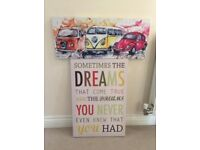 Colour canvas camper van and quote