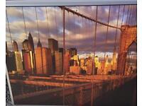 New York skyline photo artwork