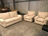 Brand new beige cream 3 + 1 + 1 sofa suite from Marks and Spencers