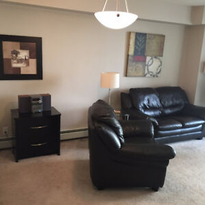 Downtown Condo – Corner Unit - 1 Bedroom + Den – Available Aug 1