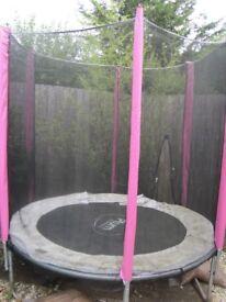 Trampoline - 6ft Junior Plum Trampoline and New Enclosure Net