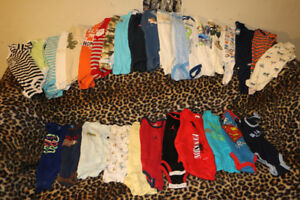 Baby Boy Sleepers/Diaper shirts 0-12month sizes