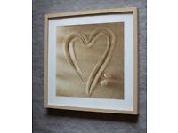 Framed Sand Heart Print