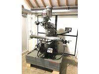 "1993 Bridgeport Series 1 Vari Speed Milling Machine - Newall DRO - 48"" Table - 6F X & Y Power Feeds"