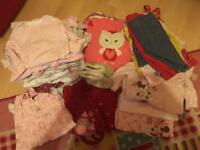 Bag of girls baby clothes 0-9