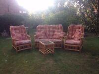 Conservatory wicker seats