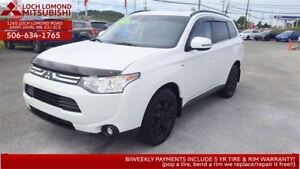 2014 Mitsubishi Outlander GT 4WD 7 seater FOR ONLY $186 BW ALL I