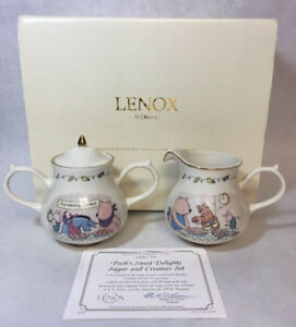 Lenox Winnie The Pooh Sweet Delights Sugar And Creamer Set 24k G