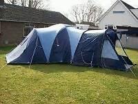 Vango 6 man tent with awning