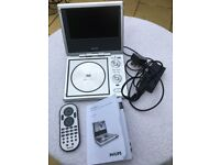 Portable Philips DVD player PET710