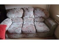 3 seater sofa and 2 matching chairs ****Need gone asap ****