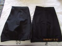 2 Pairs size 18 Black Trousers