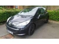 Peugeot 207s New Shape 2006 Black 1.4 Very Economic MOT March 18