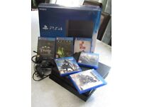 PS4 500gb, Playstation 4 with 6 games - good condition, less than 12 months old with original box