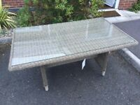 Unwanted, brand new patio dining table