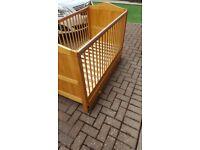 3 piece nursery furniture set - cot bed, wardrobe, drawers