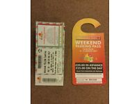 2X yellow camping weekend v festival tickets includes one car parking pass at hylands park