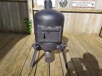 Log or coal multifuel burner for canal-boat or man cave .+ home uses or Garden