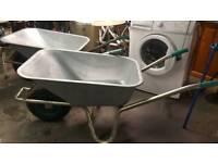 Brand new heavy sheet galvanised wheelbarrow