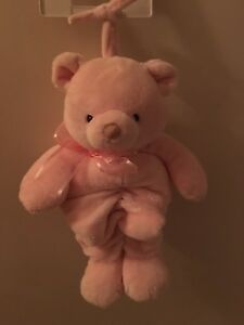 Pink bear that plays soothing music for baby