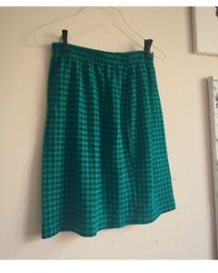 Vintage Houndstooth Pencil Skirt - M/L