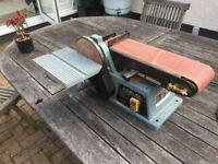 BELT AND DISC SANDER ** DELTA ** 250W *8 BENCH MOUNTED