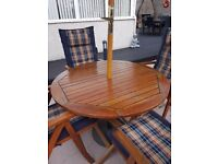 Real wood Garden Table with Chairs