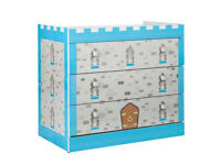 Blue Castle 3 Drawer Chest