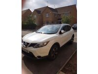 Beautiful qashqai in pearl white ... lovely car, change in circumstances forces sale