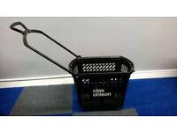 Black Plastic Shopping Trolley