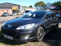 56 PLATE LATE 2006 HIGH SPEC 407 2.2 HDI STATION WAGON EXCELLENT DRIVER NEW MOT ONLY £1795
