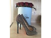 100% authentic Christian Louboutin spiked limited Edition heels shoes 38 UK 4.5 LV YSL Zara MK